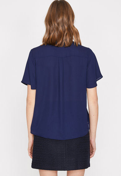 KOTON Bluza vaporoasa cu detaliu snur Femei