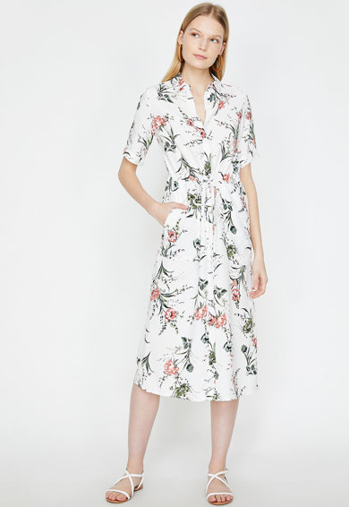 KOTON Rochie tip camasa cu imprimeu floral Femei