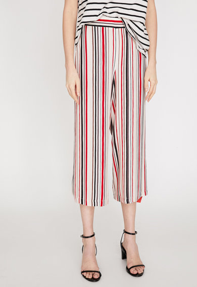 KOTON Pantaloni culotte vaporosi, cu model in dungi Femei