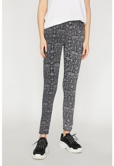 KOTON Pantaloni slim fit cu imprimeu abstract Femei
