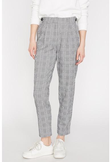 KOTON Pantaloni drepti cu model in carouri Femei