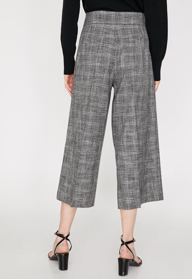 KOTON Pantaloni cu croiala ampla, in carouri Femei