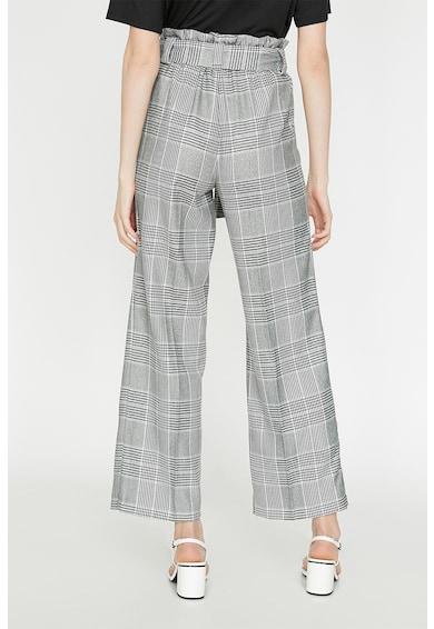 KOTON Pantaloni cu croiala ampla, in carouri, cu cordon Femei