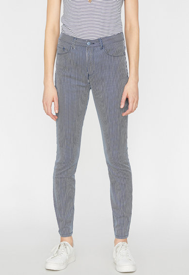 KOTON Pantaloni slim fit cu dungi Femei