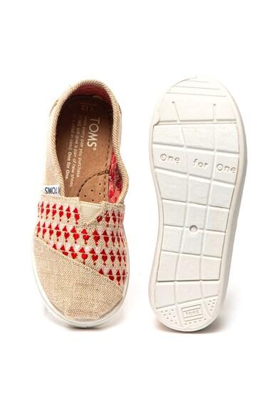 TOMS Pantofi slip-on de panza cu broderii Fete