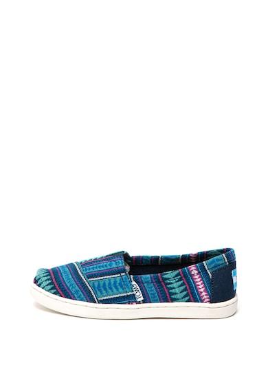 TOMS Pantofi slip-on tip espadrile Cobalt Fete