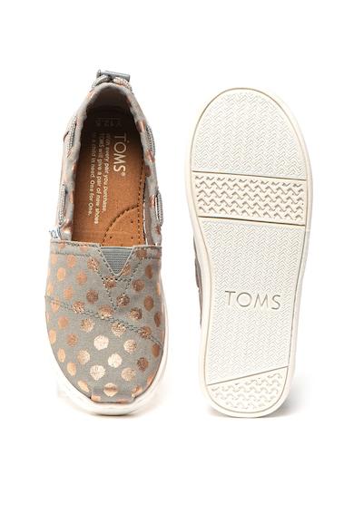 TOMS Pantofi slip-on tip espadrile cu buline Bimini Fete