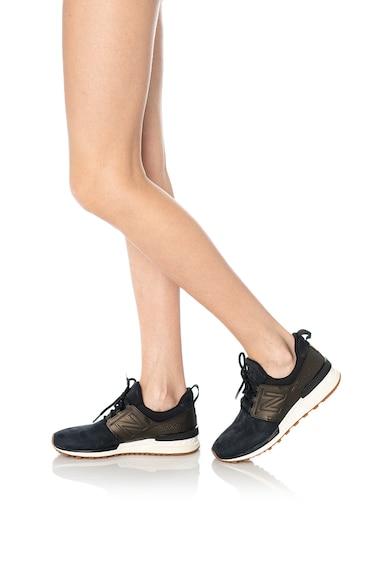 New Balance Pantofi sport slip-on de piele si piele nabuc 574 Femei