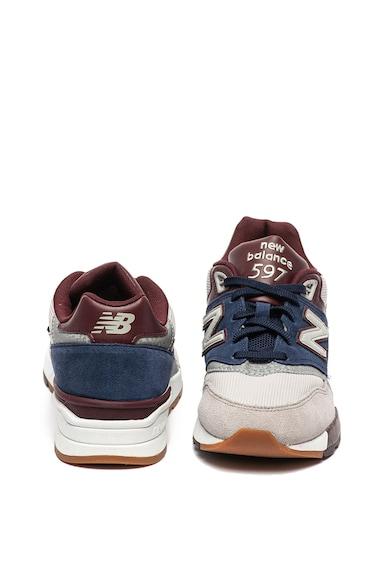 New Balance 597 nyersbőr sneaker bőrrészletekkel férfi