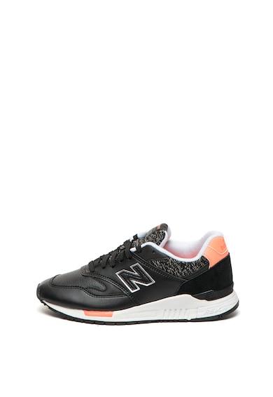 New Balance Pantofi sport de piele cu sireturi suplimentare si REVlite 840 Femei