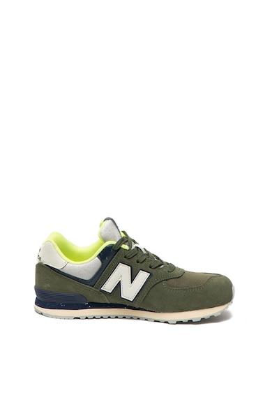 New Balance Велурени спортни обувки 574 с текстил Момичета