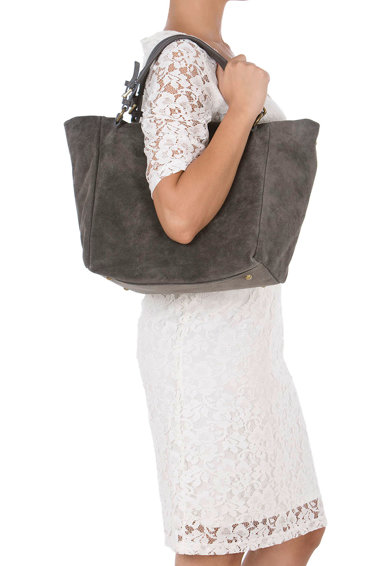 Lucca Baldi Велурена чанта Gimignano с отделяща се презрамка Жени