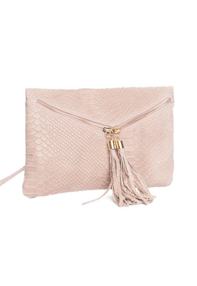 Lucca Baldi Кожена чанта Certaldo с пискюли Жени