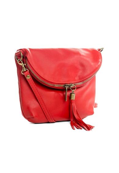 Lucca Baldi Кожена чанта Cetona с пискюл Жени