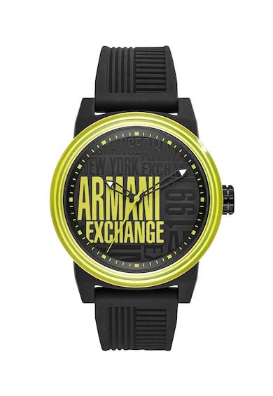 armani exchange Часовник със силиконова каишка Мъже