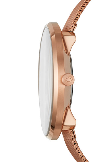 Fossil Аналогов часовник с метална верижка Жени