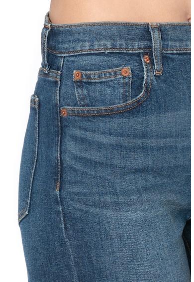 GAP Pantaloni scurti din denim, cu talie inalta si terminatii franjurate Femei