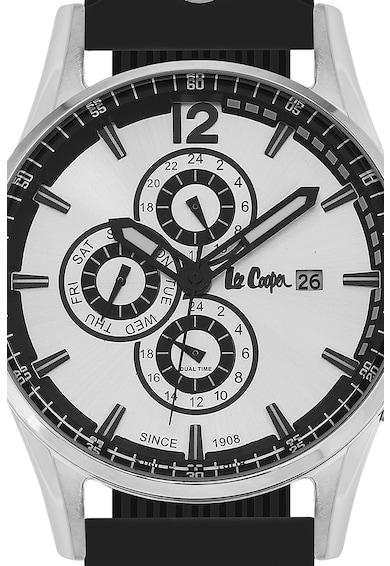 Lee Cooper Ceas cronograf cu o curea de silicon Barbati