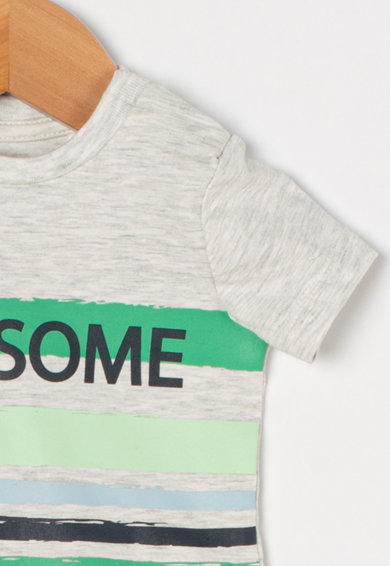 NAME IT Set de tricou si pantaloni scurti de bumbac organic Hesiom Baieti
