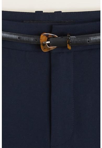 Mango Pantaloni cu croiala dreapta si curea in talie Boreal Femei