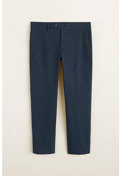 Mango Pantaloni slim fit cu model in dungi Calvino Barbati