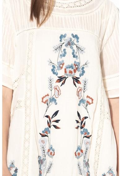 Free People A-vonalú ruha virágmintás hímzéssel női