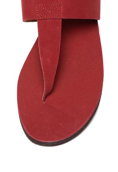 Free People Nubuk bőr flip-flop papucs női