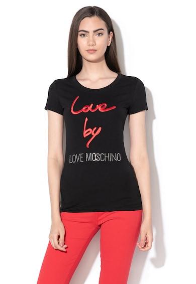 Love Moschino Póló hímzett logóval női