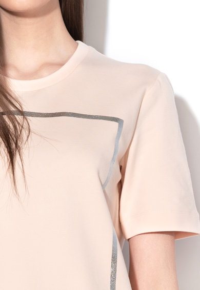 Love Moschino Pulóverruha fémes hatású logómintával női