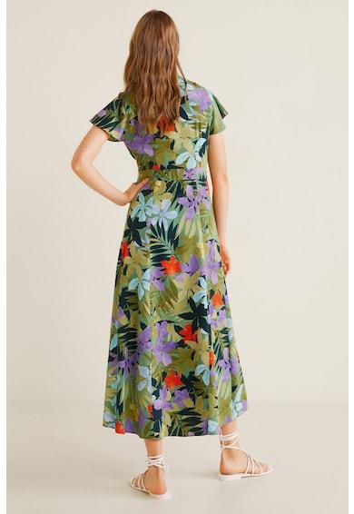Mango Rochie petrecuta cu model floral Hawai Femei