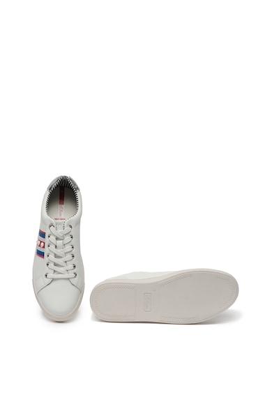 s.Oliver Pantofi sport de piele cu insertii de piele ecologica si aplicatie brodata Femei