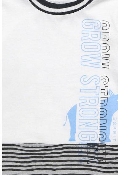 Esprit Tricou cu dungi si imprimeu text Baieti