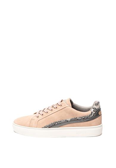Esprit Pantofi sport de piele ecologica, cu garnituri cu model reptila Femei
