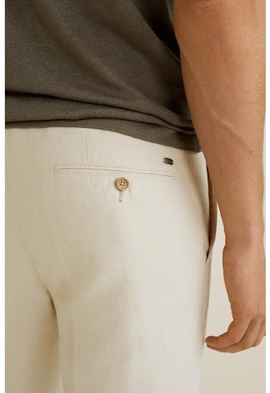 Mango Pantaloni din amestec de in, cu pensa Vibes Barbati