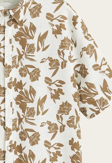Mango Флорална риза със стандартна кройка Мъже