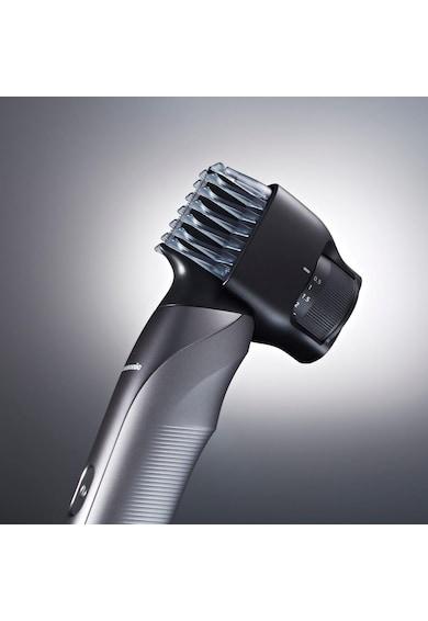 Panasonic Trimmer pentru barba si par corporal   , 3 in 1, functionare cu si fara fir, Argintiu/Negru Barbati