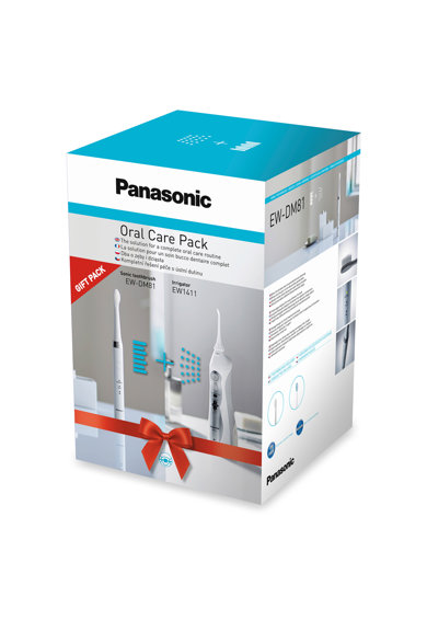 Panasonic Pachet Irigator  EW1411, 1400 oscilatii/min, 3 programe, 3 Trepte de presiune + Periuta electrica Panasonic DM81, 2 programe, 31000 oscilatii/min, Alb/Argintiu Femei