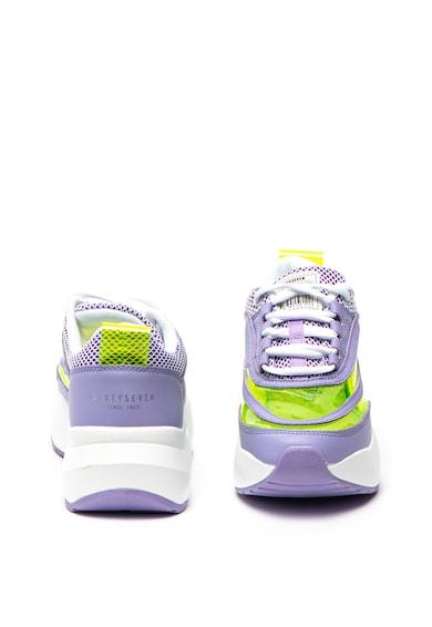 sixtyseven Pantofi sport cu garnituri transparente si de piele Femei