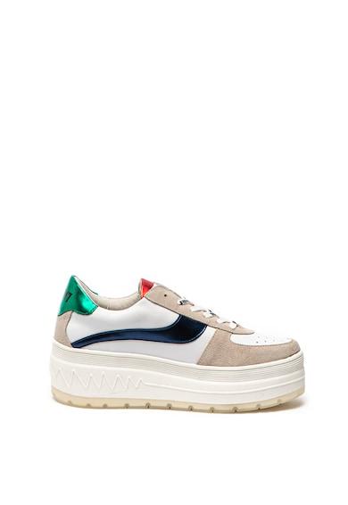 sixtyseven Pantofi sport flatform cu insertii de piele intoarsa Femei