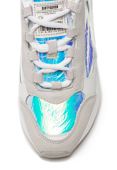 sixtyseven Pantofi sport cu garnituri de piele intoarsa si irizatii Femei