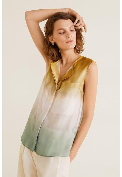Mango Риза Tie с джоб на гърдите, без ръкави Жени