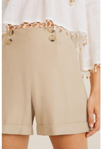 Mango Pantaloni scurti cu talie inalta Basel Femei