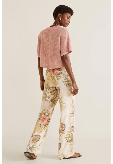 Mango Pantaloni vaporosi Vintage Femei