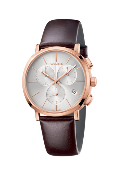 Calvin Klein Ceas cronograf cu o curea de piele Barbati