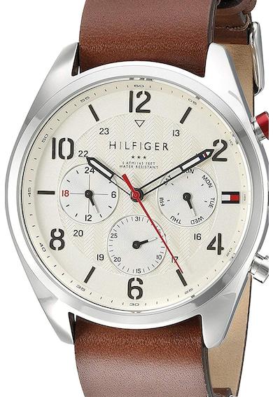 Tommy Hilfiger Мултифункционален часовник с кожена каишка Мъже