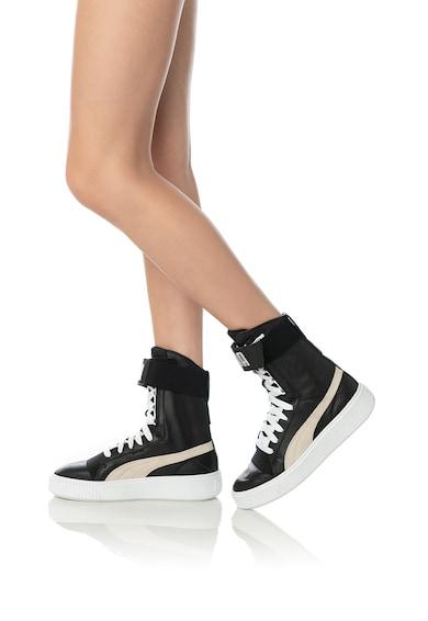 Puma Спортни обувки от кожа с велур Жени
