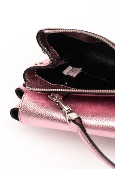COCCINELLE Arlettis bőr keresztpántos táska fémes hatással női