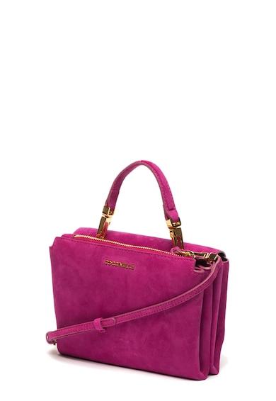 COCCINELLE Arlettis duplarekeszes nyersbőr keresztpántos táska női