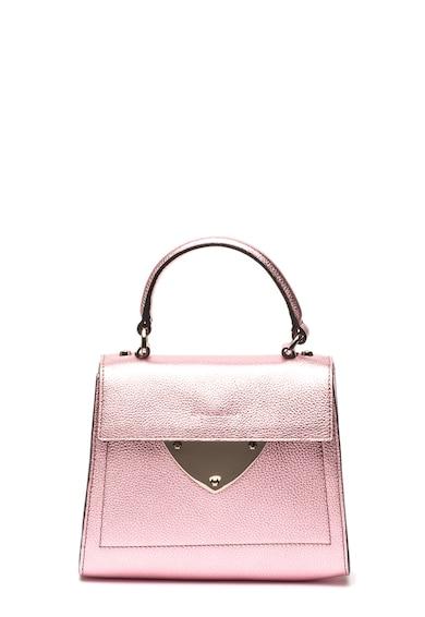 COCCINELLE Кожена чанта с метализиран ефект Жени