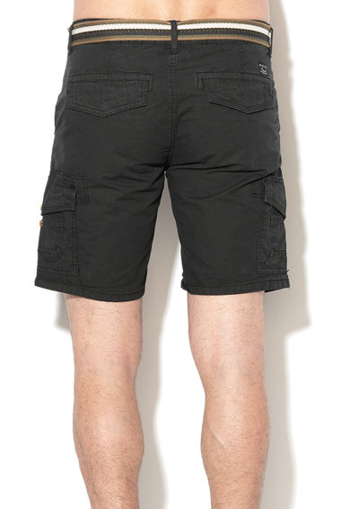 BLEND Pantaloni scurti regular fit cu aplicatie logo si curea Barbati